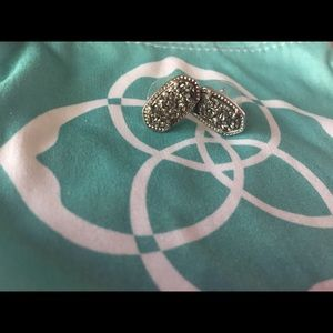 Kendra Scott Ella Platinum Drusy Stud Earring